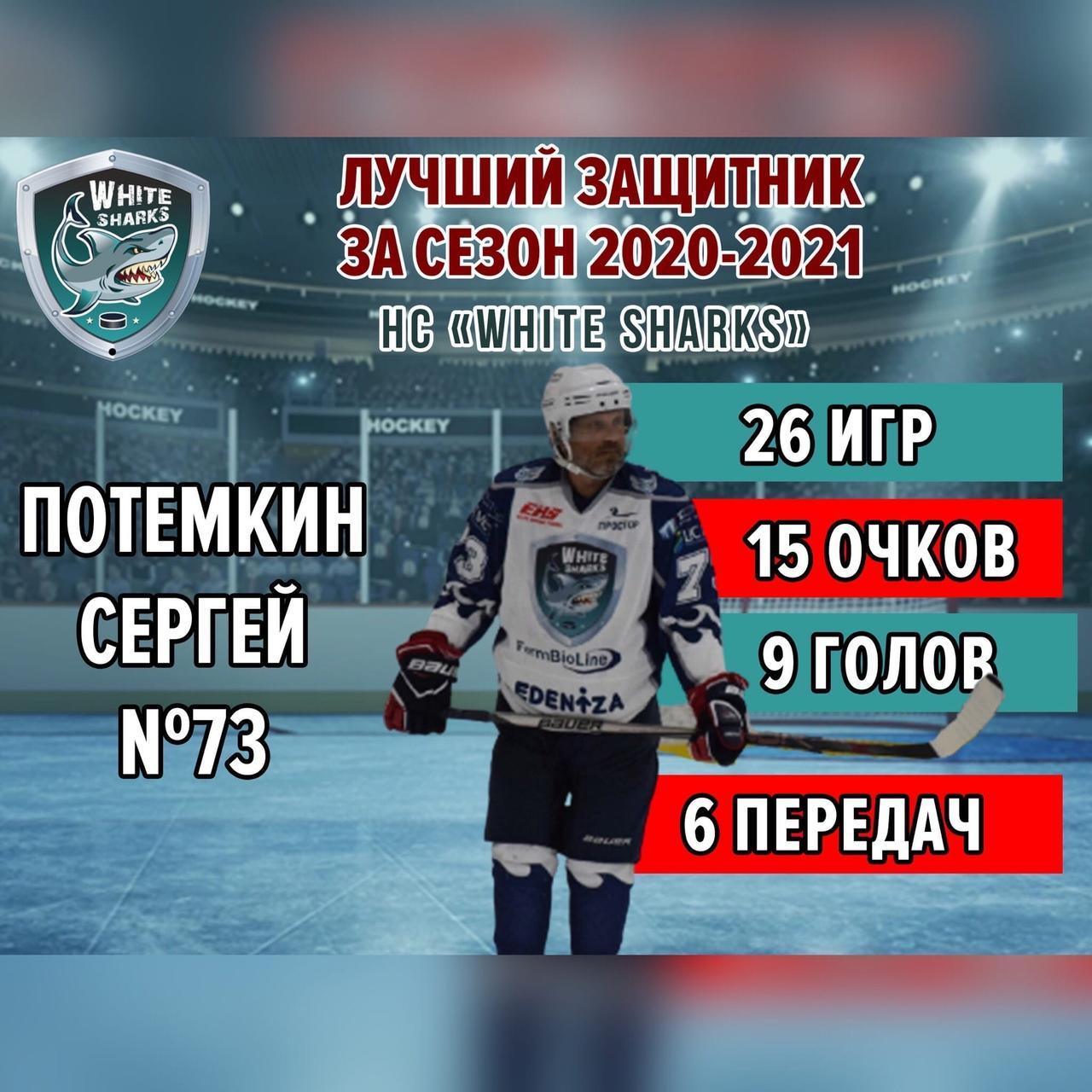 Лучшие защитник White Sharks сезон 2020/21